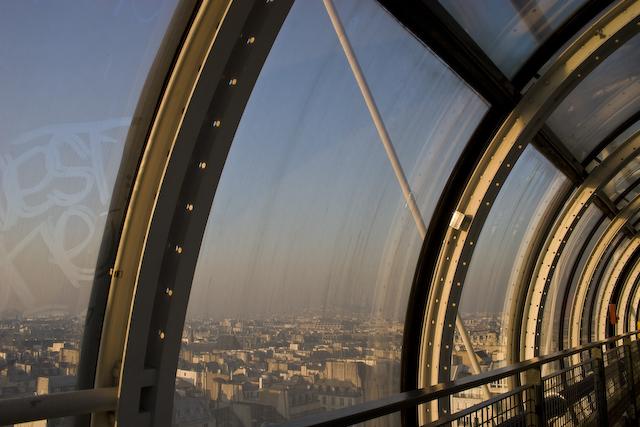 View from Centre Pompidou walkway, Paris © 2009 Lanora S. Mueller