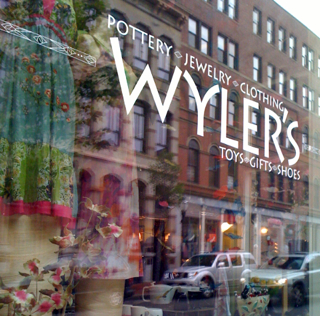 Wednesday Window ~ Wyler's, Exchange Street, Portland, Maine
