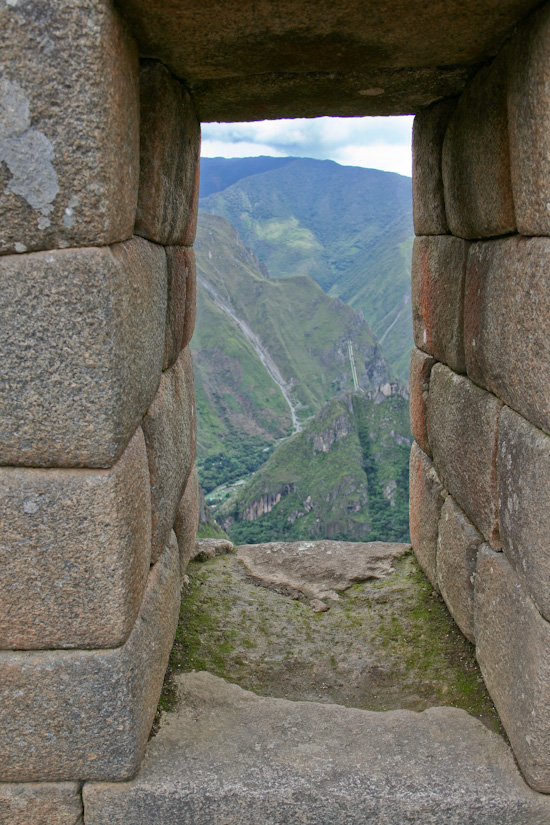 Machu Picchu window Peru-8700